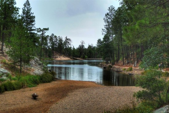 The entrance to the lake on Mt Lemmon